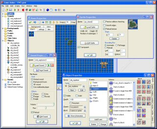 Screenshot of the Game Maker Interface
